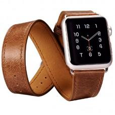 Ремешок Icarer для Apple Watch Classic Genuine Leather Quadri-Watchband Series-42mm
