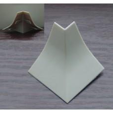 Угол наружный на бортик Korner, алюминий сатин 611