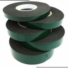 Скотч двухсторонний Salman 20 мм * 10 м, зеленый (черный)