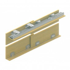 Раздвижная система для шкафов купе Lucido LC 53: Ролики на две двери, с доводчиками, вес до 75 кг