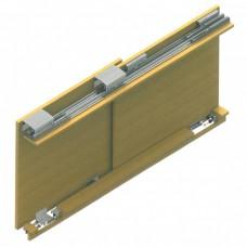 Раздвижная система для шкафов купе Lucido LC 54: Ролики на две двери, с доводчиками, вес до 100 кг