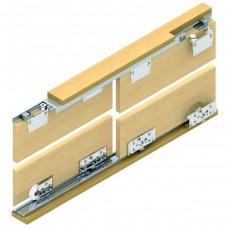 Раздвижная система для шкафов купе: Lucido LC 80AY ролики до 80 кг (на две двери)