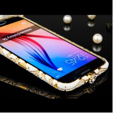 Бампер со стразами для Samsung Galaxy S6