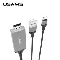 Кабель Usams US-SJ131 Lightning to HDMI Cable 2m