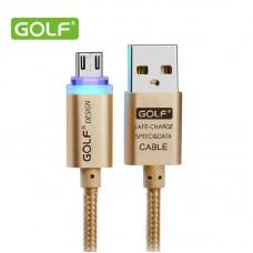 Кабель Golf GC-12m LED Micro metal braided