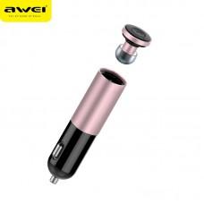 АЗУ + Bluetooth гарнитура Awei A870BL (1USB, 2.1А)