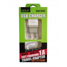 СЗУ GOLF GF-U1L с Lightning USB (EU) Plug (1USB, 1А)