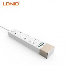 Удлинитель Ldnio SK3460 (UK, 2500W, 10A, длина шнура: 1.6m, 4usb port, 2.4A)