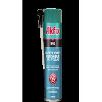 Многоцелевая монтажная пена с многоразовым клапаном Akfix 940